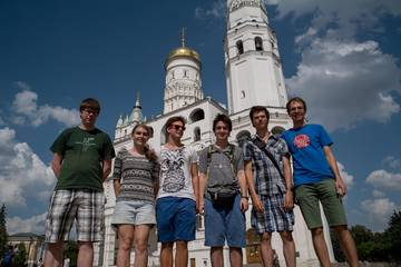 IOI 16 Team in the Kremlin of Moscow