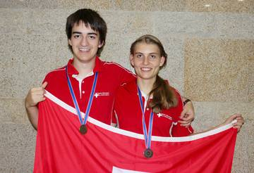 Gold for Daniel Rutschmann and Silver for Stefanie Zbinden
