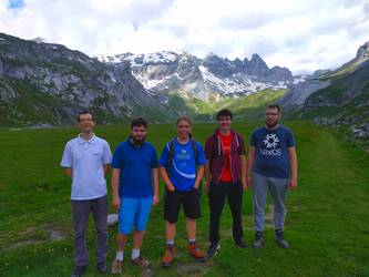 Hiking Group at Segnesboden