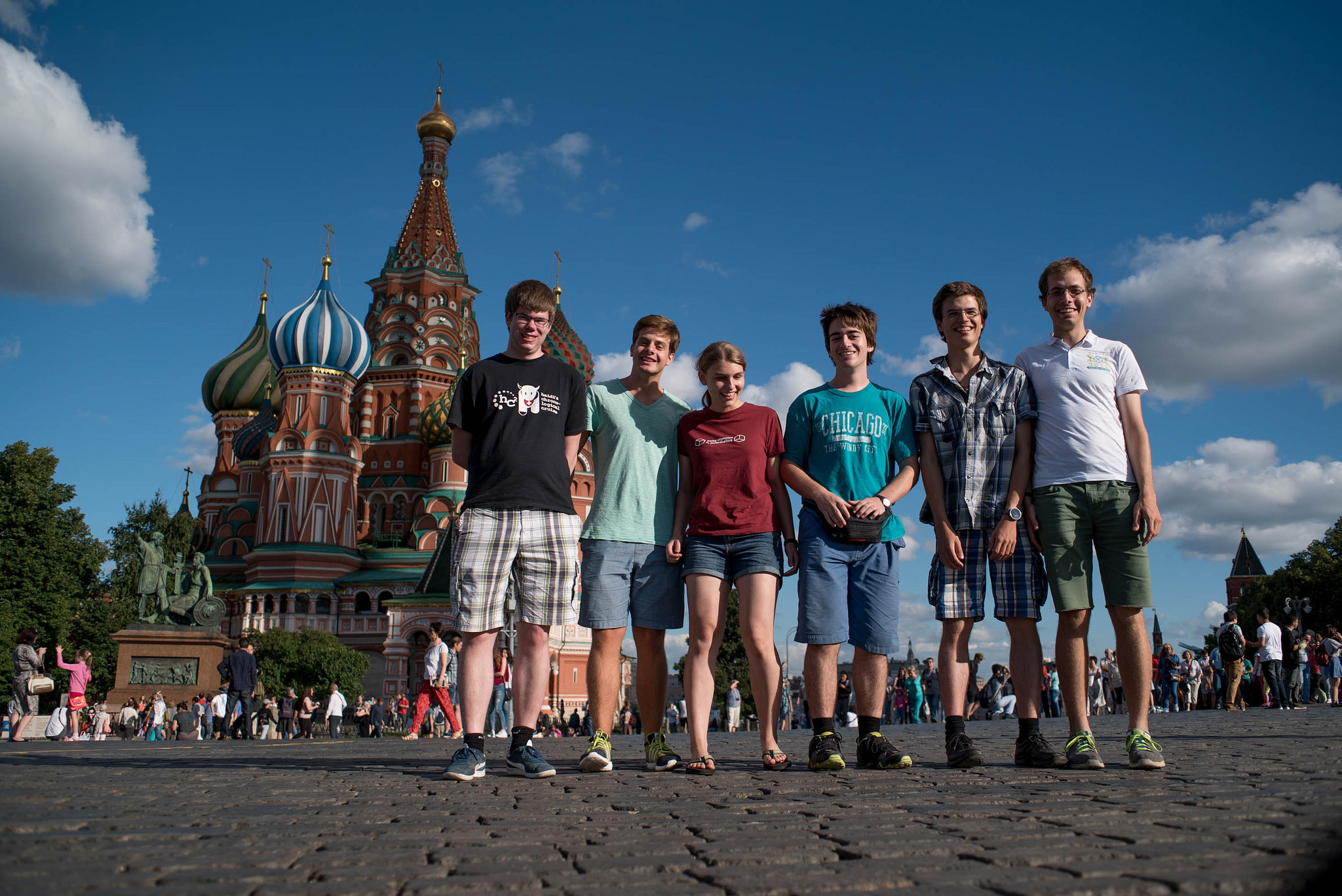 IOI16 Team on the red square in Mosow