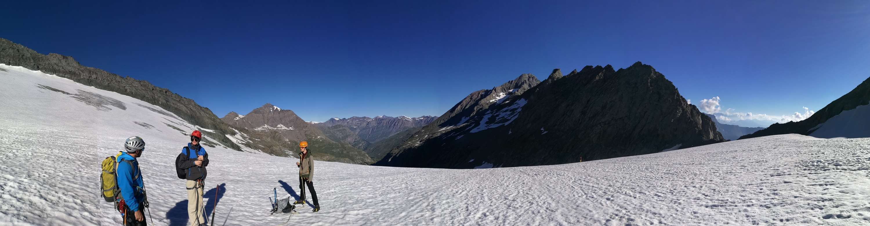 The view from on top of the glacier.